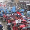 Tens of thousands of workers demonstrate in Ljubljana